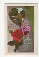 Sweetheart's Birthday, RP Greetings Postcard, A852