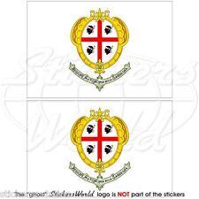 SARDAIGNE Région Drapeau Sarde ITALIE Vinyle Stickers Autocollant 75mm x2