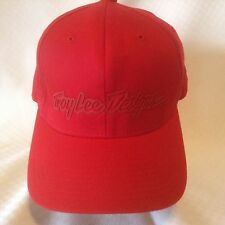 Troy Lee Designs Hat Baseball Cap Flex Fit L/XL Solid Red Large Extra Large