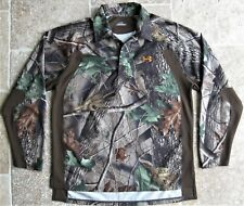 Under Armour Sm Real Tree Camo Camouflage Hunting Long Sleeve Shirt Mens S