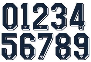 Hummel Felt 1980's 90's Football Shirt Soccer Numbers Heat Print Football Top