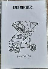 Baby Monsters Easy Twin 2.0 Kinderwagen Zwillingswagen Babywagen