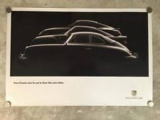 Porsche Historical Showroom Advertising Sales Poster RARE!! Awesome L@@K