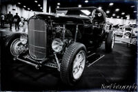 12x18 in B&W Poster, 1932 Ford Vintage Hot Rod Garage Art Man Cave Decor