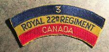 3rd Royal 22e nd Regiment Canada Canadian Army Cloth Shoulder Title Flash Badge
