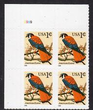 Sc# 3031 1 Cent American Kestrel (1999) MNH PB/4 P# 9999 UL SCV $0.50  Read