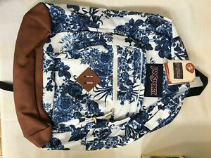 JanSport Right Pack Expressions Laptop Backpack White Artist Rose