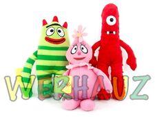 "Yo Gabba Gabba Brobee Muno & Foofa 13"" Soft & Fluffy Plush Toy Set"