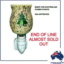 Wall Plug In - CHRISTMAS TREE MOSAIC NIGHT LIGHT - Australian Power - BRAND NEW