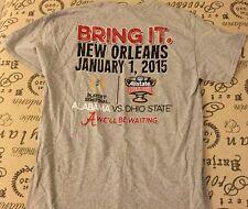 NWT Alabama Crimson Tide  2015 SEC NCAA Football Sugar Bowl T-Shirt Gray Size L