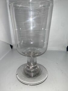 "19c Victorian Drinking Glass Rummer Of Plain Form 5.5"" High"