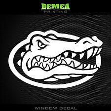 "Florida Gators - NCAA - White Vinyl Sticker Decal 5"""