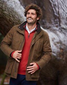 Joules Mens Fullerton Waterproof Tweed Jacket - Green Multi Tweed - M