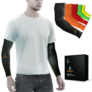 Tattoo Cover Up Arm Sleeves 1 to 5 Pair BLACK for Men Women Compression Sleeve