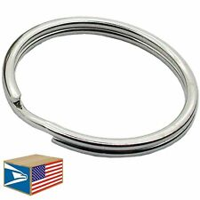 "100 Lot Split Key Rings 1.5"" 1-1/2"" 38mm Heavy Duty Nickel Metal Keychain Holder"