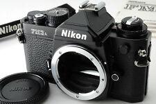 [Mint] Nikon FM3A Black 35mm SLR Film Camera Body + Strap Manual from JAPAN #208