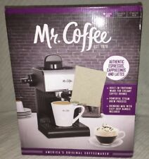 MR Coffee Espresso Maker with Built in Frothing Wand Black Classic Brew *Used*
