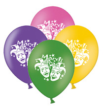 """Mardi Gras Masks  Mix 4 Assorted Printed 12"""" Latex Balloons pack of 20"""