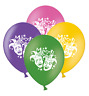 """Mardi Gras Masks  Mix 4 Assorted Printed 12"""" Latex Balloons pack of 15"""