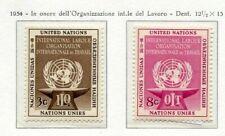 19010) UNITED NATIONS (New York) 1954 MNH** Nuovi** ILO -