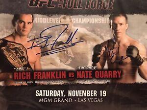 Rich Franklin Vs Nate Quarry Signed UFC 56 FULL FORCE UFC Poster 8x10 Photo