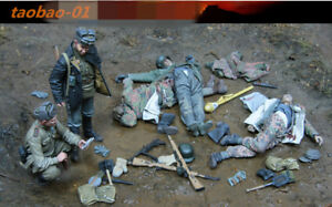 1/35 resin figures model kit Soviet soldiers and corpse of German soldiers 5 man