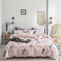 3D Black Feather ZHUA2197 Bed Pillowcases Quilt Duvet Cover Set Queen King Zoe