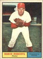 1961 Topps Philadelphia Phillies Baseball Card #20 Robin Roberts - EX
