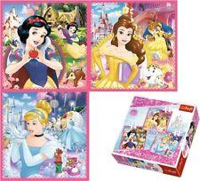 Trefl 3 en 1 20, 36 et 50 Pièces Disney princesses filles Fantasy Puzzle