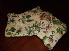 Pair of Pillow Shams (Custom Made) Waverly Fabric King Size Gently Used