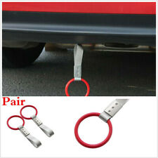 2PCS RED RING FOR SUBWAY TRAIN BUS HANDLE HAND STRAP CHARM DRIFT TOY DECORATION
