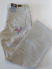 Girls Jordache Bootcut Jeans Adjustable Waist Sand Color Size 10 1/2 Plus  A1