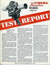 "1965 Vintage Large Ad Brochure: BEAULIEU ""R16ES"" 16mm Camera +"