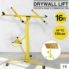 16-19' Drywall Panel Lifter Hoist Jack Rolling Caster Lockable DIY Tool Yellow