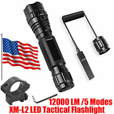 12000lm XML2 LED Tactical Flashlight 5 Modes Military Torch Camping Emergency