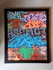 "Asem  "" Graffiti Wall ""  ,  Oeuvre Originale , Street Art Graffiti"