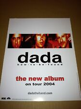 DADA 2004 PROMO POSTER CARDSTOCK for  How to be Found  Set CD USA 18x24