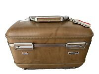 Vintage American Tourister Carry On Cosmetic Luggage Suitcase Brown