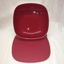 Tupperware - NEU - Allegra Schale 2,5 - Eckige Allegra - rot/weis - C202