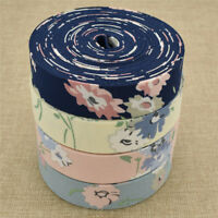 DIY Flower Floral Printed Fabric Ribbon Trims Wedding Supplies Sew Hand Crafts