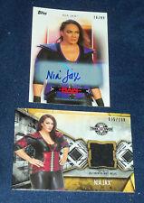 Nia Jax - 2017 WWE Womens Division Autograph #/99 + Mat Relic #/199
