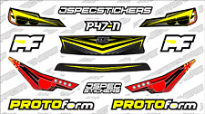 CUSTOM RC BODY HEADLIGHT GRILL STICKER DECAL SET PROTOFORM P47-N 1/10 YELLOW