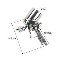 HVLP Air Gravity Feed Spray Gun for Car DIY Painting Cup 400cc 2/2.5/3mm Nozzle