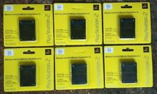 Lot Memory Card PS2 64MB Sony Original Black SCPH-10020 SEALED