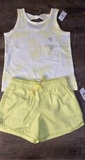 Gap Kids -  Girls Size 6-7 - Tie Dye Top and Solid Neon Shorts Outfit