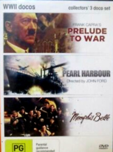WWII Docos DVD  (Memphis Belle / Pearl Harbour / Prelude to War) DVD as NEW