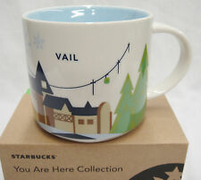 Starbucks Vail Colorado Mug You Are Here 2015 14 oz Ski Village Gondolas NIB