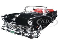 1956 FORD SUNLINER CONVERTIBLE BLACK LTD ED TO 1002PCS 1/18 BY AUTOWORLD AMM1072