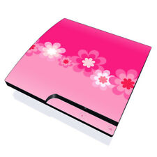Sony PS3 Slim Console Skin - Retro Pink Flowers - DecalGirl Decal