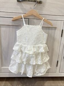 BARDOT NEW DRESS BABY TODDLER WHITE  IVORY LACE CUTE FORMAL GIRL Size 2